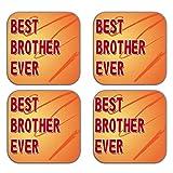 MeSleep Best Brother Wooden Coaster-Set Of 4