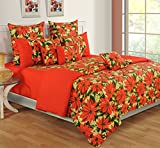 Swayam Colors of Life Printed Cotton Double Bedsheet with 2 Pillow Covers - Multicolor (DBS11-2425)