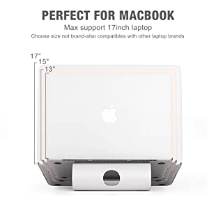 Acko Aluminum Laptop Stand Holder for Apple Macbook Air, Macbook Pro, All Notebooks with Cellphone Tablet Stand for Free (Color: Silver)