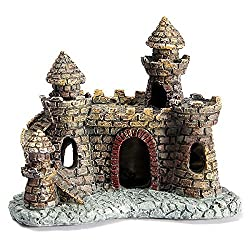 Generic Aquarium Fish Tank Antique Castle Tower Ornament Cave Landscaping Decoration