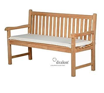 auflage f r gartenbank aus lichtechtem dralon 150 x 47 cm maschinenwaschbar verschiedene farben. Black Bedroom Furniture Sets. Home Design Ideas