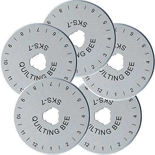 5-Pack Quilting Bee 45mm Rotary Cutter Refill / Replacement Blades (RB4505)