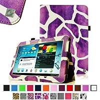 Fintie Slim Fit Folio Case Cover for Samsung Galaxy Tab 2 10.1 inch Tablet - Giraffe Purple by FINTIE