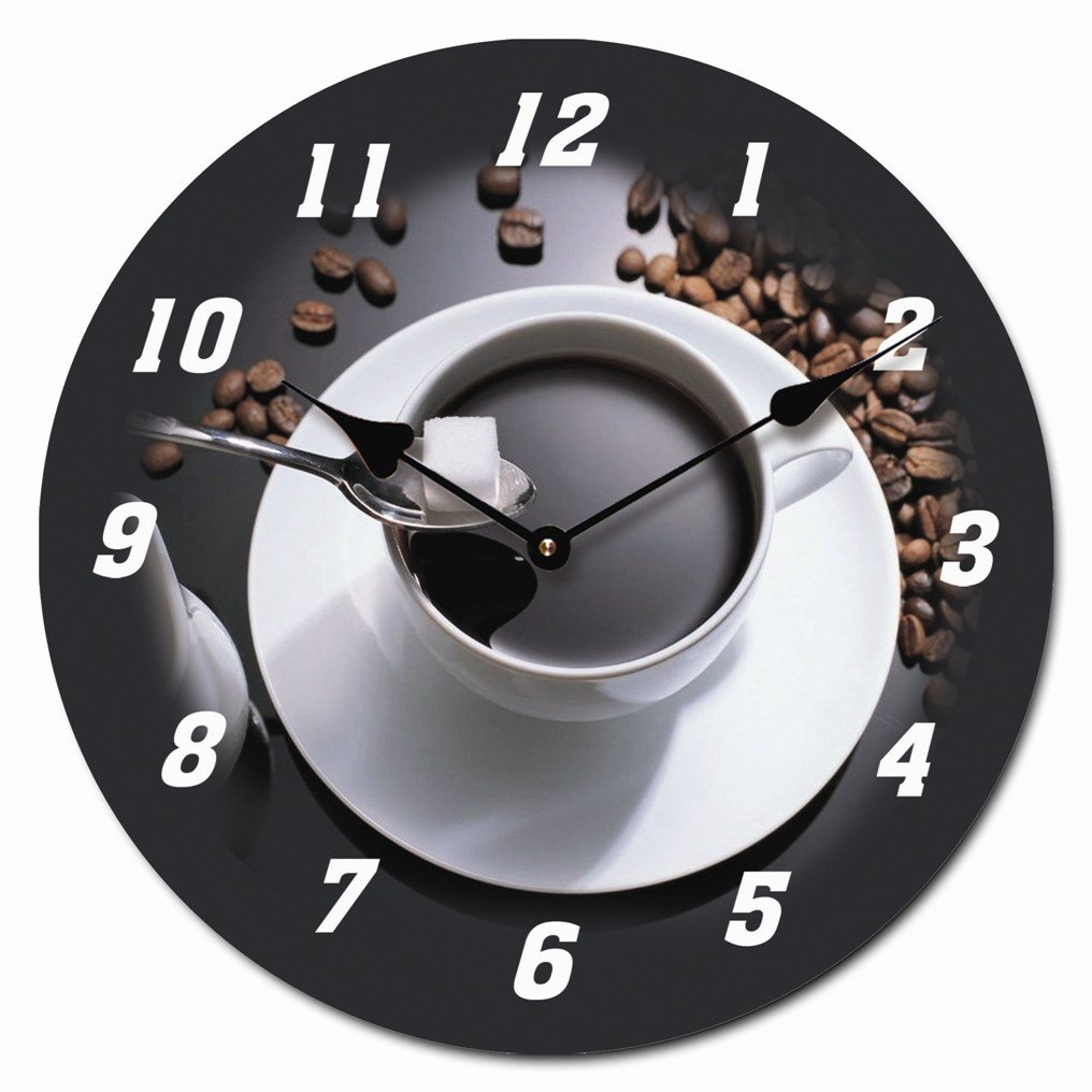 RELOJ DE PARED DISENO ESPRESSO CAFE EXPRESO RELOJ DE COCINA DECORACION 30CM MODERNO - Tinas Collection   Más información y revisión del cliente