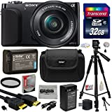 Sony NEX3 NEX-3 NEX3NL NEX-3NL B Compact Mirrorless Interchangeable Lens Digital Camera with 16-50mm f 3.5-5.6 Lens (Black) with Must Have Accessories Bundle Kit includes 32GB Class 10 SDHC Memory Card + Replacement (1200mAh) NP-FW50 Battery + Home Wall Charger with Car and European Adapter + Professional 60