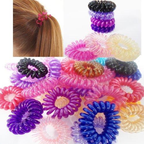 10-x-spiral-random-color-girls-hair-bobbles-bands-mini-baby-ponytail-elastic-stretchy-hairband