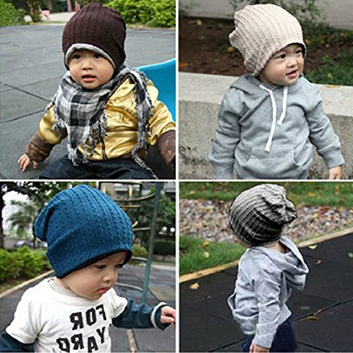 Boy Girl Fashion Trendy Baby Toddler Child Hat Knit Beanie Warm Winter Cap