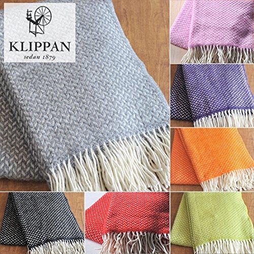 KLIPPAN クリッパン ウール スローケット ポルカ(130×200cm/ライトグレー)北欧雑貨