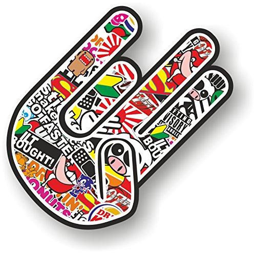 Shocker Hand Sticker Bomb JDM style right