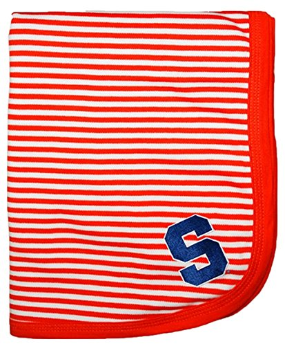 "Syracuse Orangemen NCAA College Newborn Infant Baby Blanket 33"" x 36"" - 1"