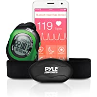 Pyle Bluetooth Fitness Heart Rate Monitoring Watch for iPhone and Android Devices