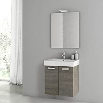 ACF 23 Inch Grey Oak Bathroom Vanity Set C30