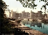 C1895 WALES Caernarfon Castle Vintage Photograph * 250gsm A3 Gloss Art Card Reproduction Poster