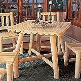 Rustic Natural Cedar Furniture Square Dining Table