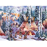 Bits and Pieces - 300 Piece Glow in the Dark Puzzle - The Bear Spirit, Native American - by Artist Kirk Randle - 300 pc Jigsaw