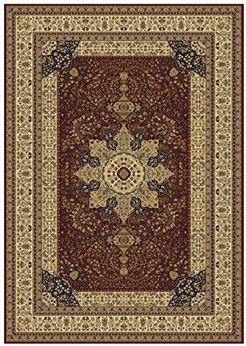 Luxury red silk area rugs for living room traditional area for Living room rugs 6x9