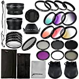 28 in 1 Kit : 52mm Wide Angle Lens + 52mm Precision Pro Digital Wide Converter + 4pz Ring Adapter + 52mm Close-up Lens Filters (+ 1 + 2 + 4 + 10) + 52mm ND Filter (ND2 + ND4 + ND8) + 52mm Neutral Density Filter + 6pcs gradual filter Set + UV Filter + CPL Filter + FLD Filter For D4 Nikon D3X D800 D700 D600 D300 D300S D7100 D7000 D5200 D5100 D5000 D3200 D3100 D3000 D90 D80 D70 D60 D50 D40 Pentax K-5 K-50 K-30 LF131