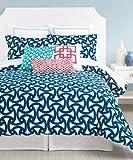 Trina Turk 3-Piece Santorini Comforter Set, King, Blue