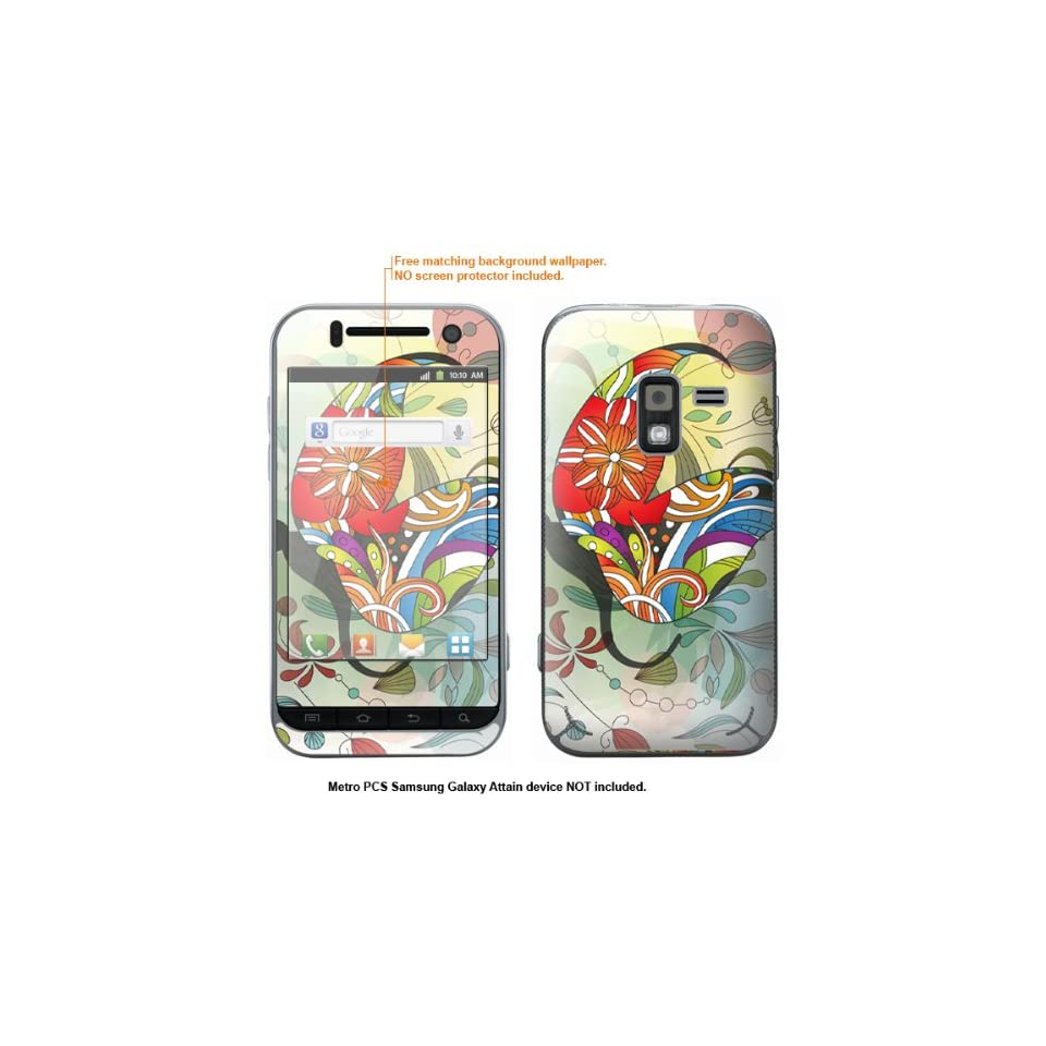 Protective Decal Skin Sticker for Metro PCS Samsung Galaxy Attain 4G case cover Attain 164