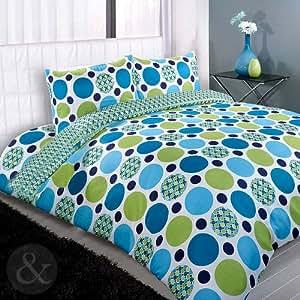 Moderner Bettbezug Retro Mit Tupfen Polyester Kreis