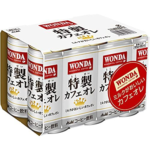 [일본 아사히 캔커피 원다 WONDA] 아사히 음료 원 다 특제 카페 오레 (185g×6개)×5개