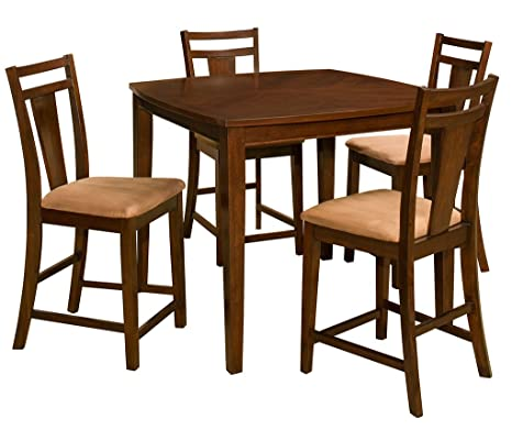OSP Designs BRT432-CHY Brentwood 5-Piece Dining Set, Cherry Finish