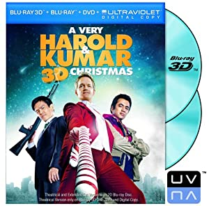 A Very Harold Kumar Christmas Two-disc Blu-ray 3d Blu-ray Dvd Ultraviolet Digital Copy by New Line Home Video