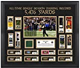 New Orleans Saints Drew Brees Record Breaking Season Ticket Collage with Game-Used Turf - NFL Player Plaques and Collages