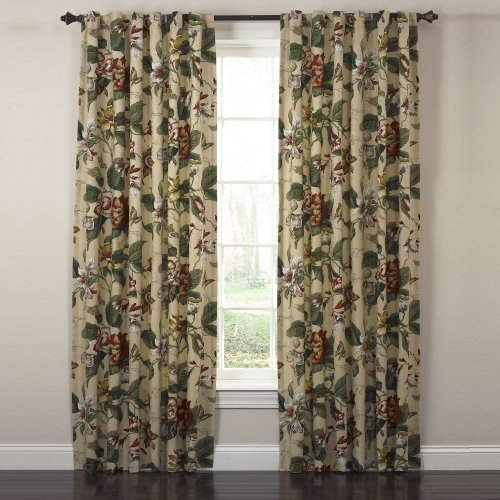 Waverly Laurel Springs Lined Panel Pair Curtain 100 Inch Wide X 84 Inch Long Curtain Store