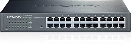 TP-LINK TL-SG1024DE Easy Smart Switch Administrable 24 Ports Gigabit (Bureau/Rackable, Boîtier Métal)
