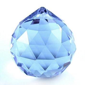 Bola Feng Shui. Cristal de época azul