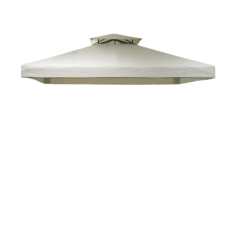 Greemotion Ersatz-Dachbezug für Pavillon Livorno, PA beschichtet, wasserabweisend, UV-Schutz, Beige, ca. 300 x 300 cm günstig kaufen
