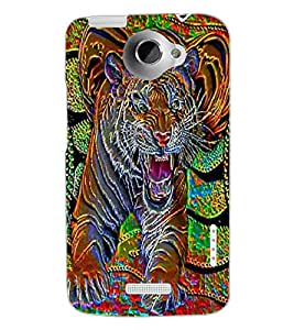 HTC ONE X TIGER Back Cover by PRINTSWAG