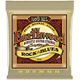 Ernie Ball 2008 Earthwood Rock and Blues 80/20 Bronze Acoustic Set with plain G,  .010 - .052