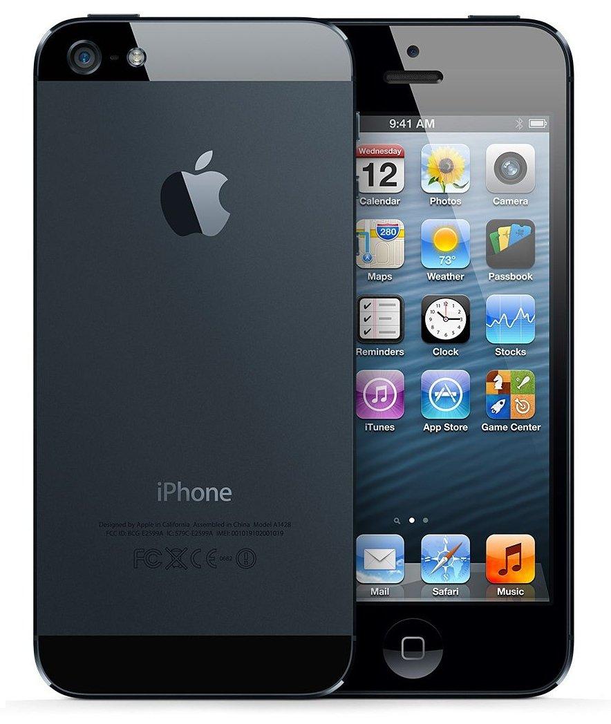 Apple iPhone 5 A1428 Factory Unlocked Cellphone, 16GB, Black