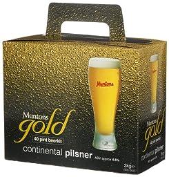 Muntons Gold 40 Pint Beerkit, Continental Pilsner, 112-Ounce Box