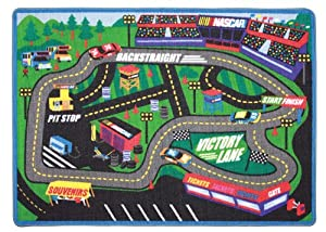 NASCAR Back Straight Play Rug by NASCAR