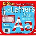 Eureka Dr. Seuss Punch Out Reusable Decorative 4-Inch Letters, Stripes, Set of 200 (487215)