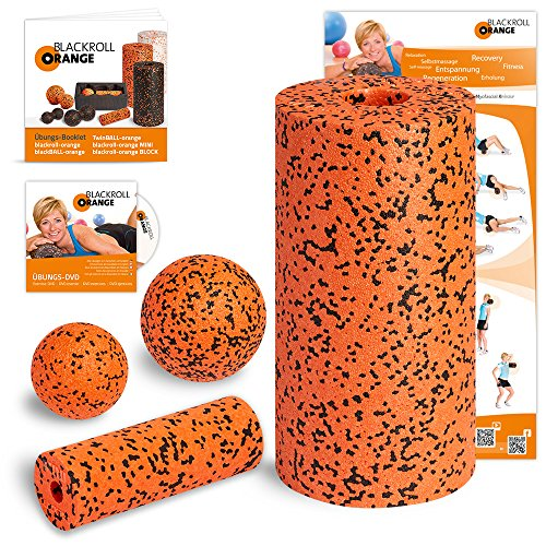 Blackroll-Orange-Das-Original-Die-Selbstmassagerolle-Starter-Set-PRO-inkl-bungs-DVD-bungsposter-Booklet