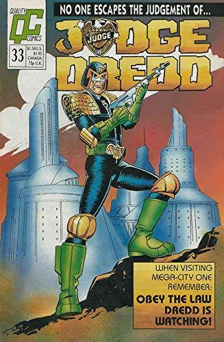 Judge Dredd (Vol. 2) #33 VF/NM ; Fleetway Quality comic book