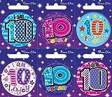 Insignia 6 Tarjeta del feliz cumpleaños Edad 10