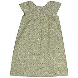 Buttercups Girls' 5 years Cotton Raglan Sleeve Dress (CFL44D, Yellow, 25 inches)