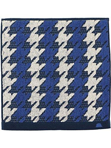 (タケオキクチ)takeo kikuchi 千鳥柄 ハンドタオル 2432214 65 ブルー 25cm×25cm