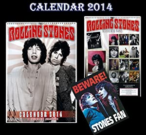 THE ROLLING STONES KALENDER 2014 + THE ROLLING STONES Vorsicht Türschilder
