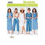 Simplicity Easy-to-Sew 4552 Plus Size Skirt, Pants, Dress, and Scarf Sewing Pattern for Women by Karen Z, Sizes BB (20W-28W) (Color: Neutral, Tamaño: BB (20W-22W-24W-26W-28W))