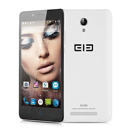 """Elephone P6000 4G LTE Smartphone Débloqué 5.0"""" Android 5.1 Octa Core 64bit MTK6732 1.3GHz 1Go + 8Go caméras 13.0MP & 2.0MP Double SIM - Blanc"""