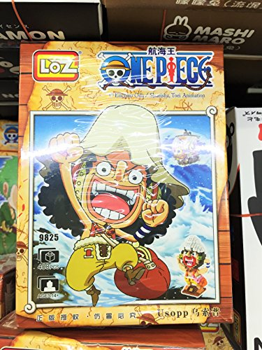 Usopp Figure One Piece Building Blocks Anime Nanoblocks Party Supplies Manga Gift with Original Box