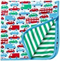 Toby Tiger Baby-Boys Transport Blanket or Shawl Scarf, Multicoloured (Blue/Green/Red/White), One Size from Toby Tiger
