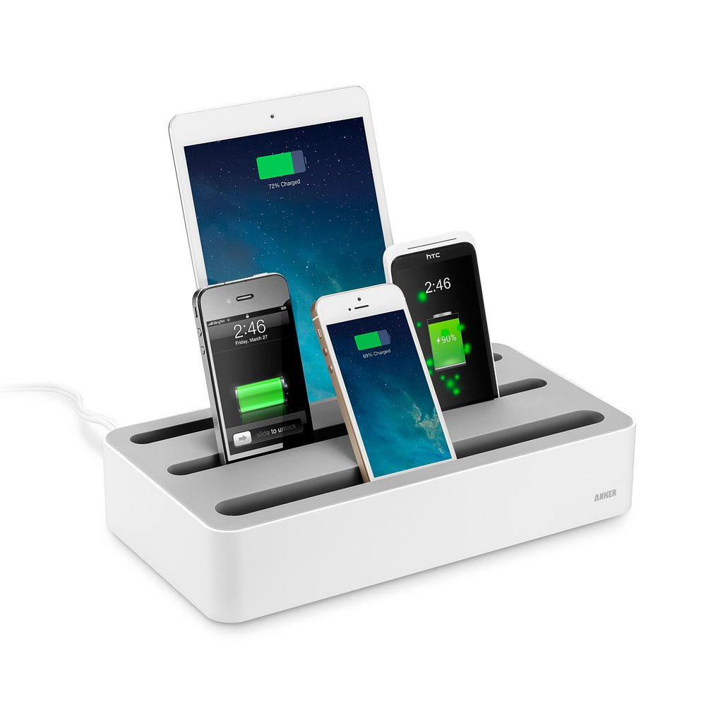 Anker® 5台同時 充電ステーション - Anker® 40W 5ポート USB急速充電器をよりスマートに