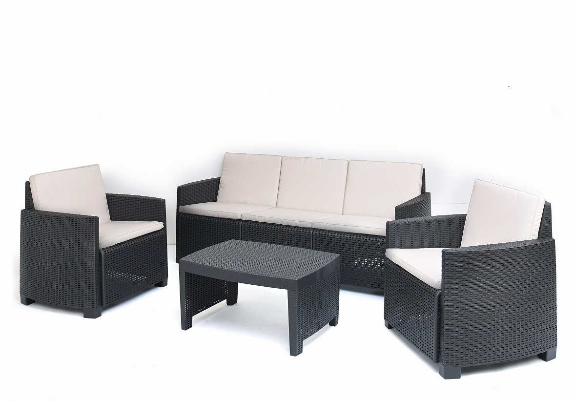 polyrattan gartenset gartenm bel rattan sitzgruppe lounge garnitur rattan 5 pers online bestellen. Black Bedroom Furniture Sets. Home Design Ideas